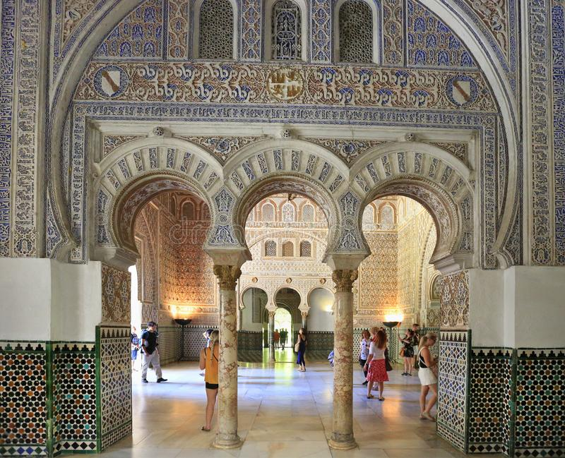Download The Alcazar Of Seville Is A Royal Palace Interior, Spain Editorial  Stock Image