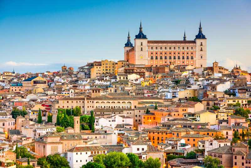 Alcazar Toledo Испании стоковые фотографии rf