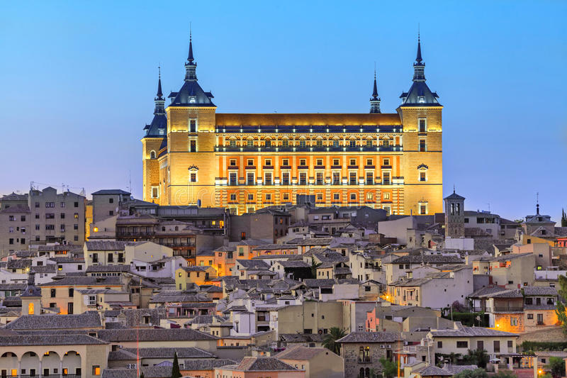 Alcazar Toledo, Hiszpania obrazy royalty free