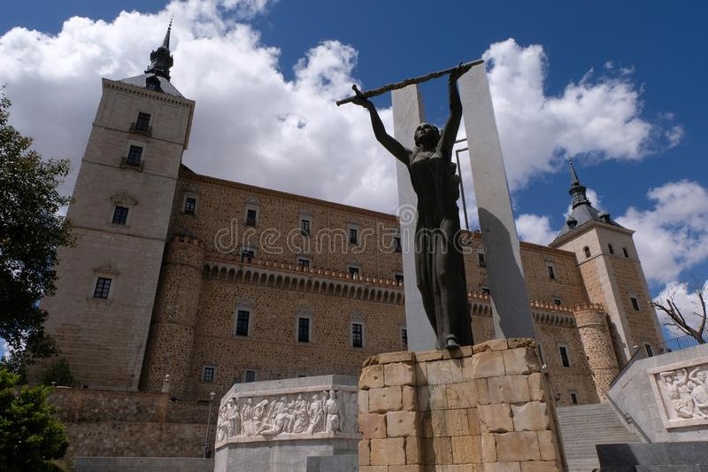 Alcazar of Toledo in Spain stock photography