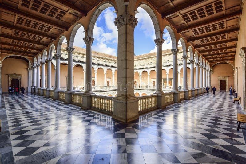 Alcazar of Toledo, Spain stock image