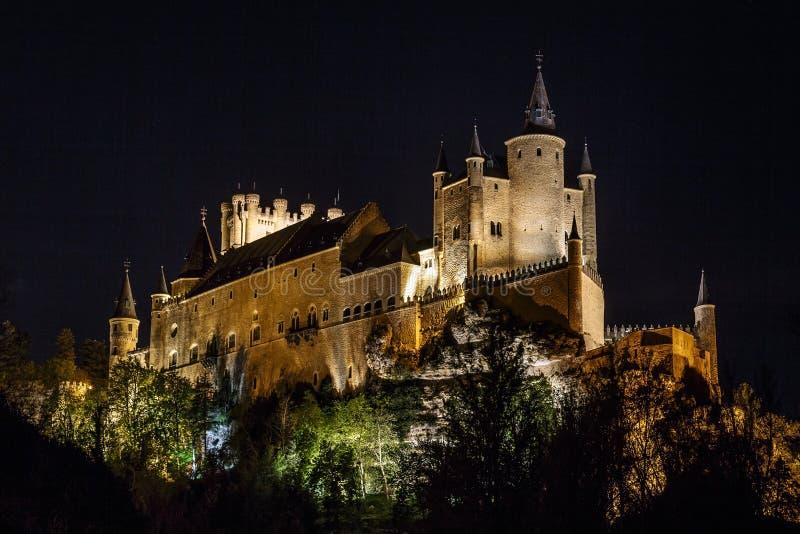 Alcazar van Segovia stock foto