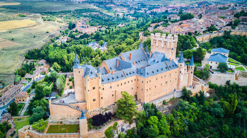 Alcazar van Segovia, Spanje stock foto