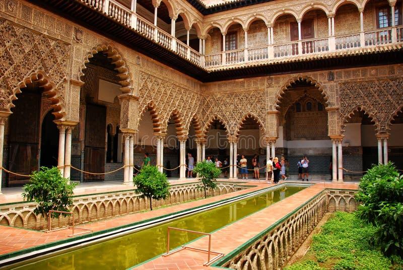 Alcazar von Sevilla lizenzfreies stockfoto