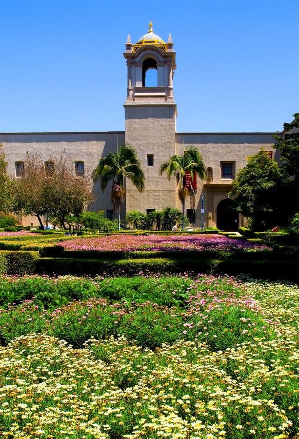alcazarbalboaen diego arbeta i trädgården parken san royaltyfria foton