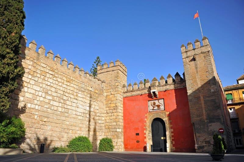 Alcazarkunglig person i Seville, Andalusia, Spanien royaltyfria bilder