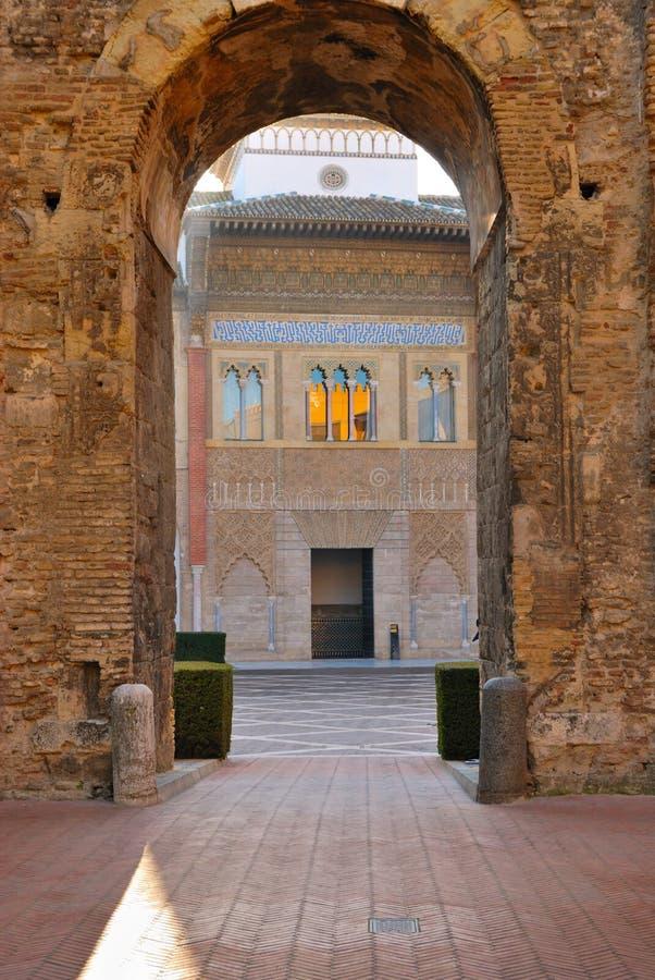Alcazars reales de Sevilla imagenes de archivo