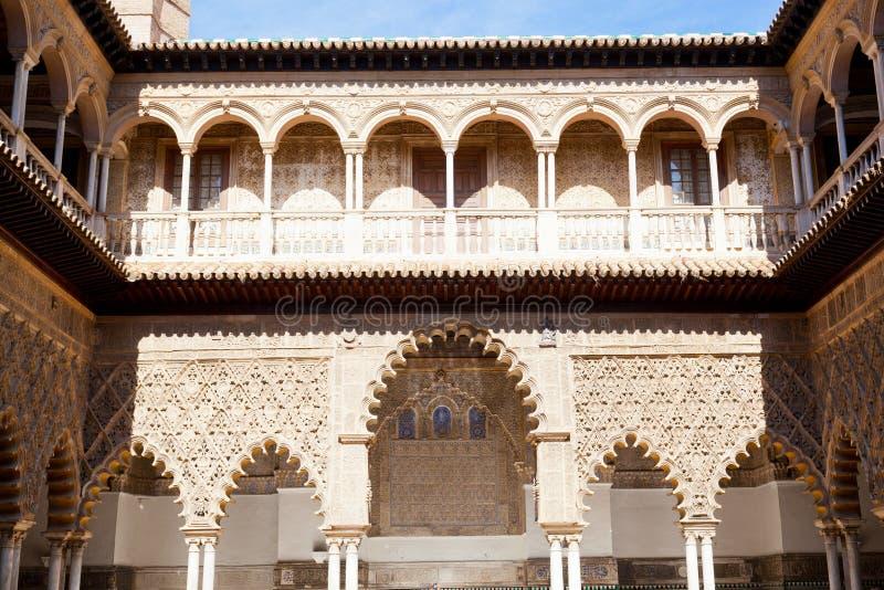 Alcazars reales de Sevilla imagen de archivo