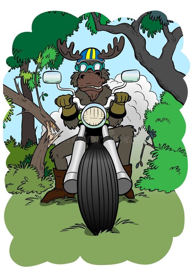Alce-motorista stock de ilustración