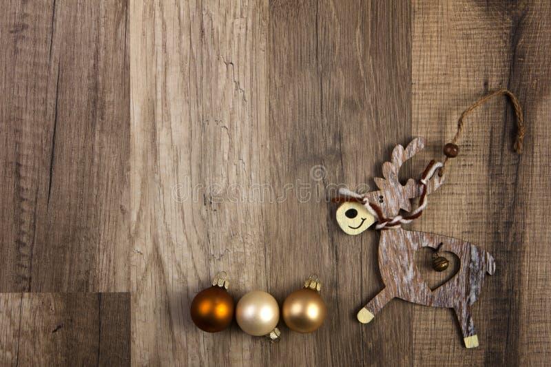 Alces como decoración de la Navidad fotografía de archivo