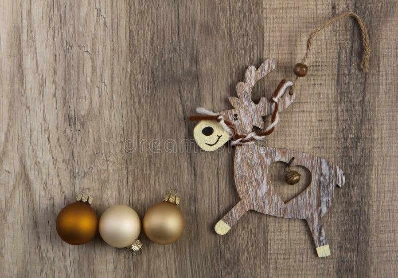 Alces como decoración de la Navidad imagen de archivo