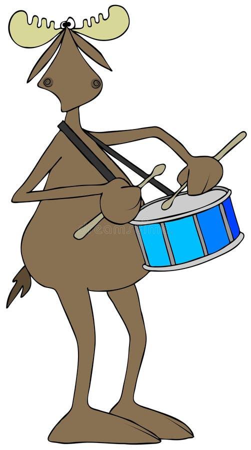 Alces que juegan un tambor libre illustration