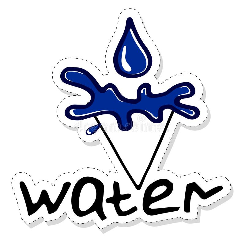 Water Element Background Stock Illustration. Illustration
