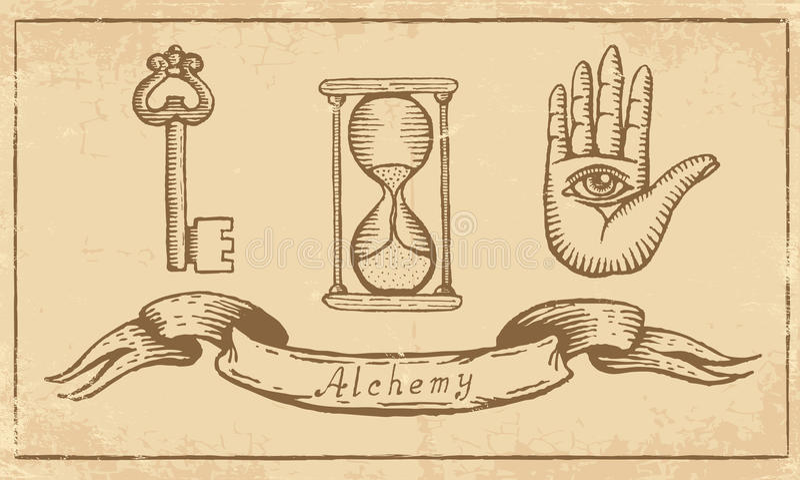 Alchemical Symbols Stock Vector Illustration Of Clock 32788849