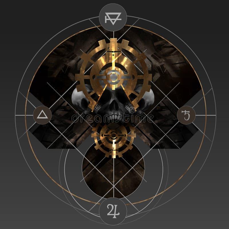 Alchemii złoto ilustracji