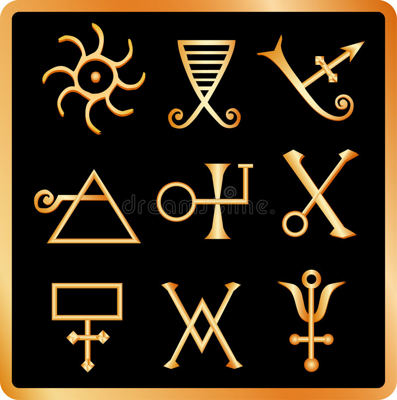 Download Alchemy signs no.1. stock vector. Image of weird, magical - 3483317