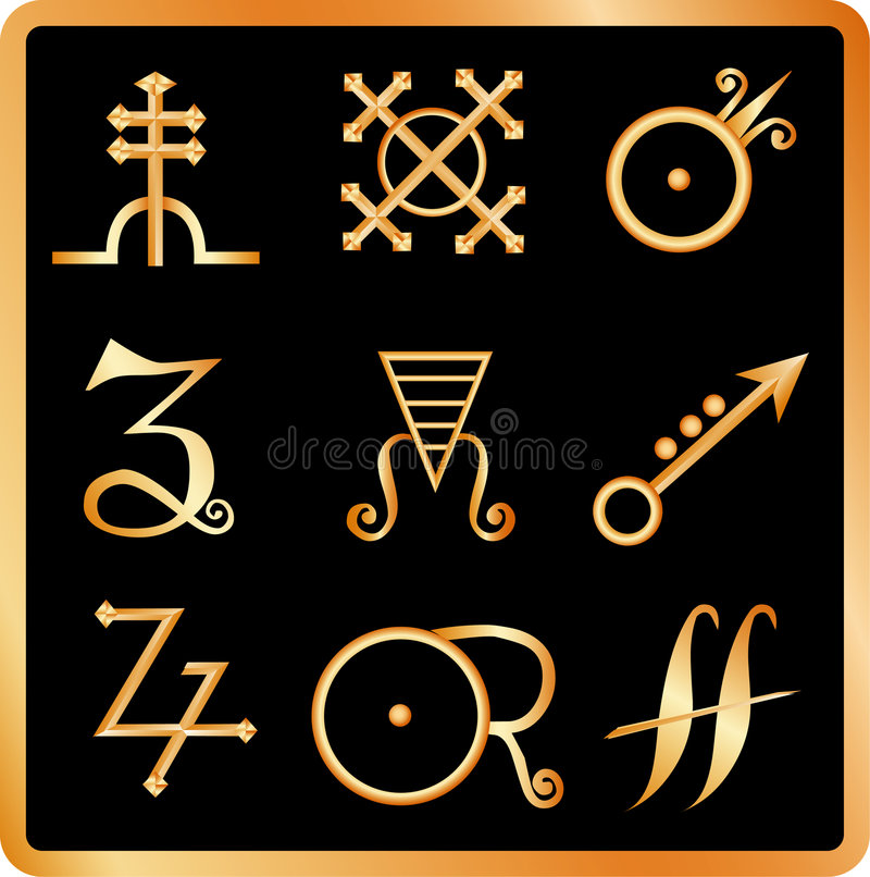 Download Alchemy Signs No.3 Royalty Free Stock Photos - Image: 3512548