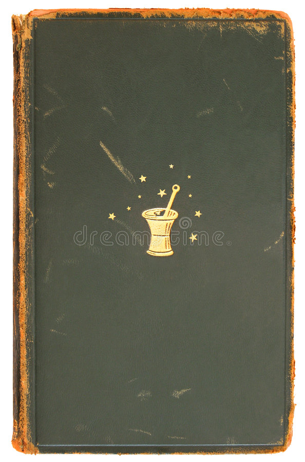 Alchemy - Vintage Book Cover 1872 stock images