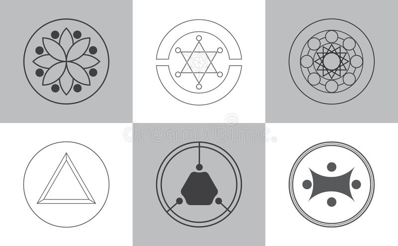 Alchimie moderne pictogrammen vector illustratie