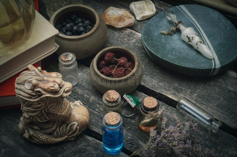 Alchimista Witchcraft fotografia stock