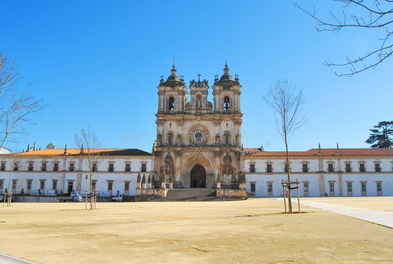 Alcobaça kloster, Portugal arkivfoton