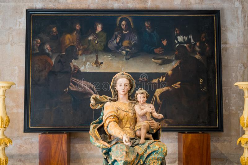 Our Lady With Baby Jesus royalty free stock image