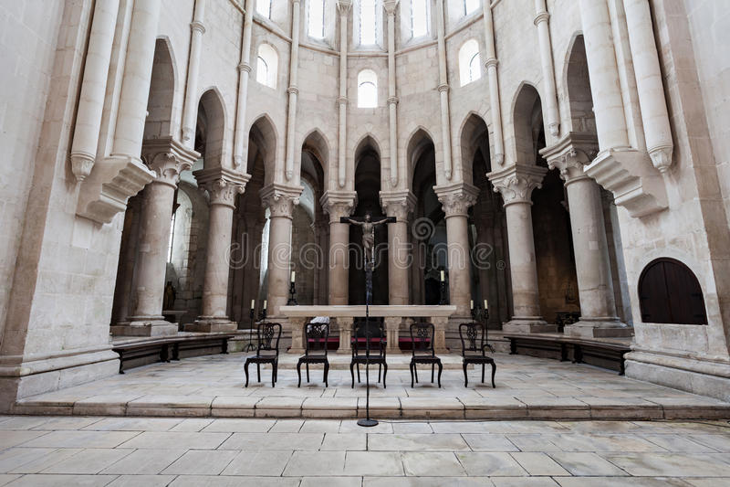 Alcobaca修道院内部 免版税库存照片