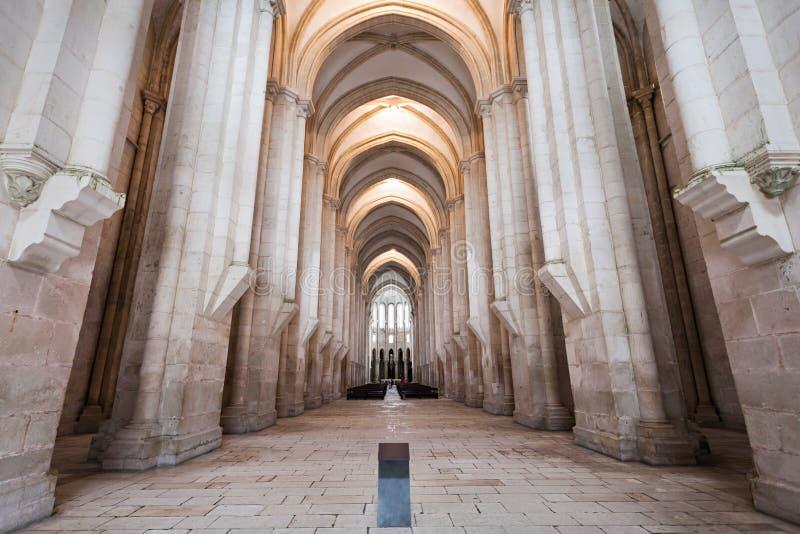 Alcobaca修道院内部 库存图片