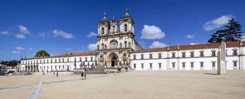 Alcobaca kloster, ett mästerverk av den gotiska arkitekturen arkivfoton