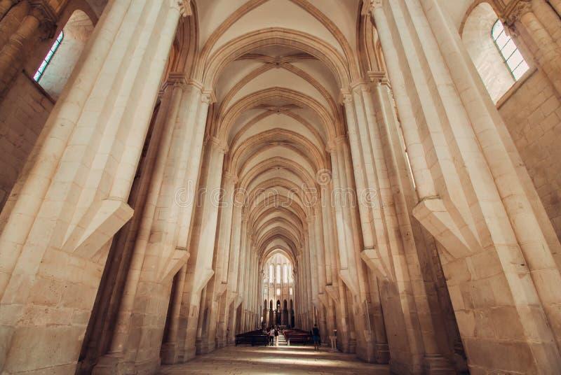 Alcobaca monastery royalty free stock photo