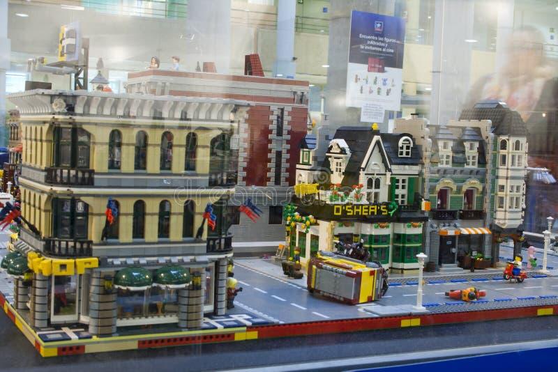 Alcobendas, SPAIN, October 19, 2018. Buildings in a exibition of Lego City. City concept stock photo