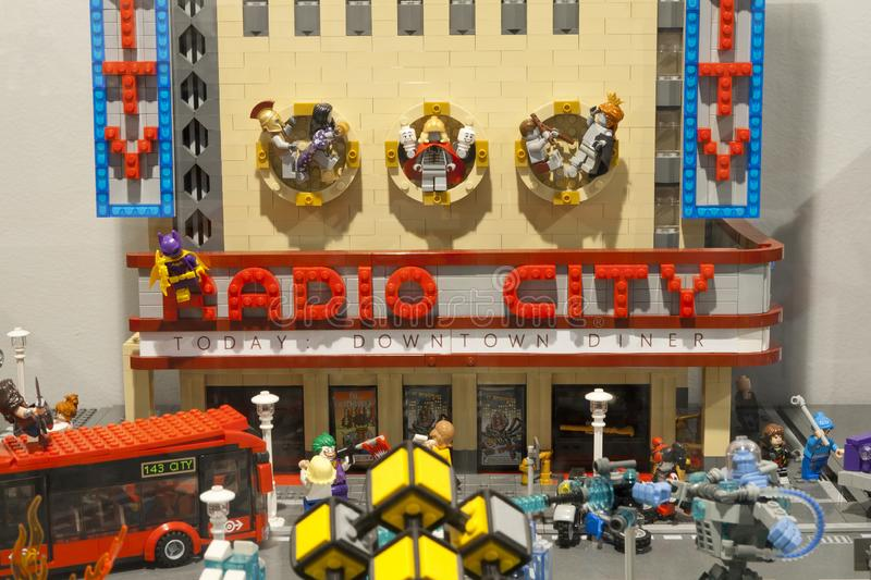 Alcobendas, SPAIN, October 19, 2018. Buildings in a exibition of Lego City. City concept royalty free stock images