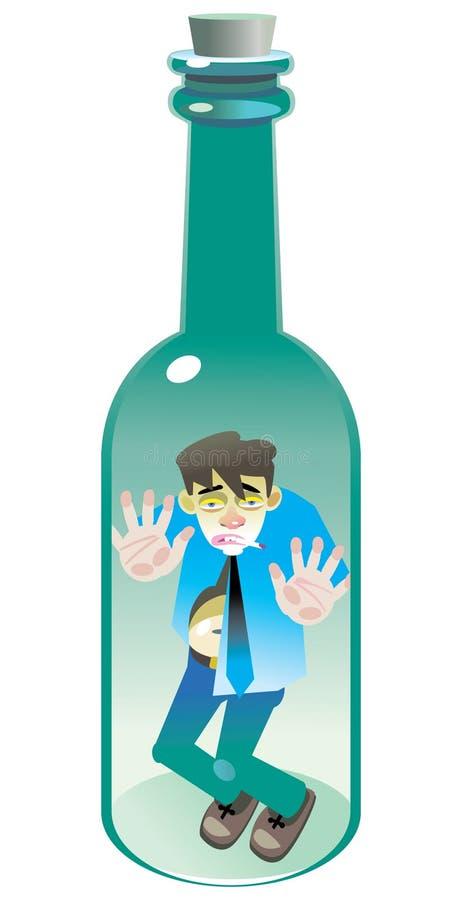 Alcohólico stock de ilustración