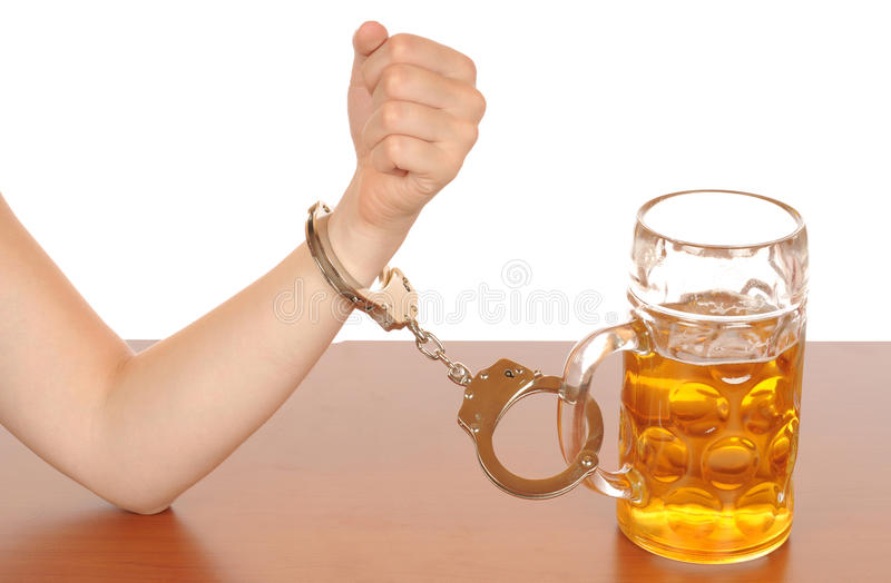 Alcohol abuse royalty free stock photos