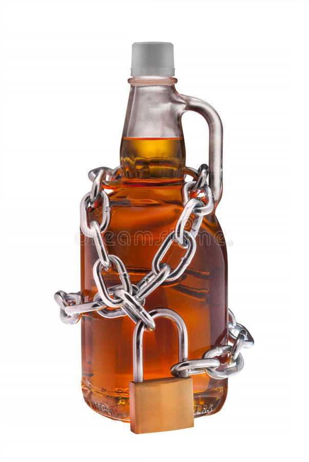 Alcohol abuse, isolated royalty free stock photography