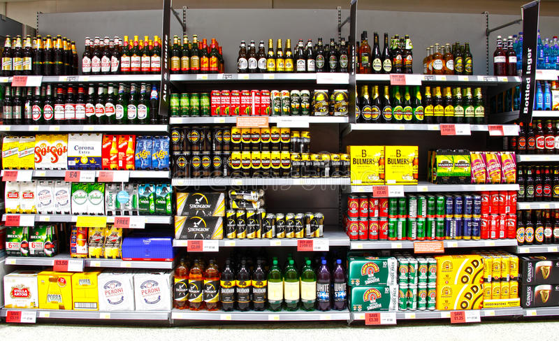 Alcohol beer and cider stock photos