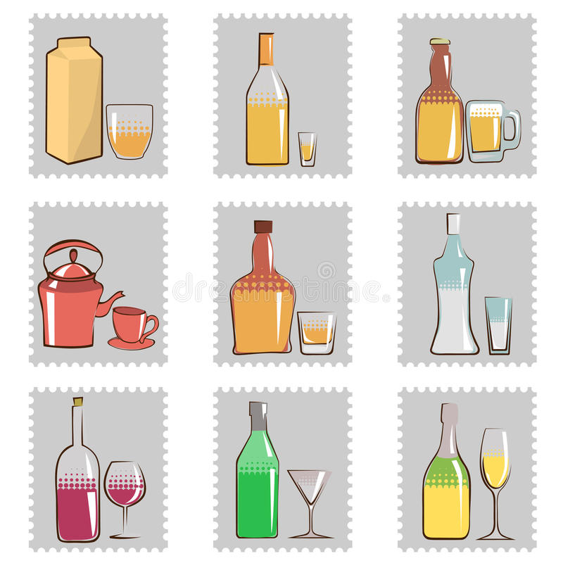 Download Alcohol bottle and glass stock vector. Illustration of abstract - 16503208