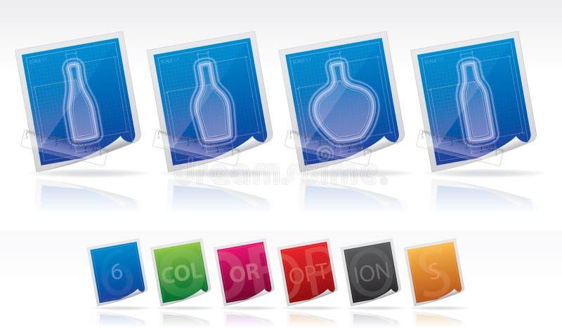 Download Alcohol bottles stock vector. Image of liqueur, wine - 23984417