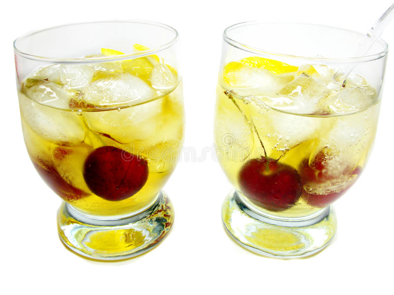Download Alcohol Brandy Cocktail With Cherry Stock Image - Image: 19985373