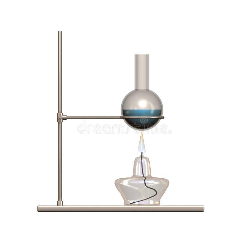 Download Alcohol burner and flask stock illustration. Illustration of science - 11835021