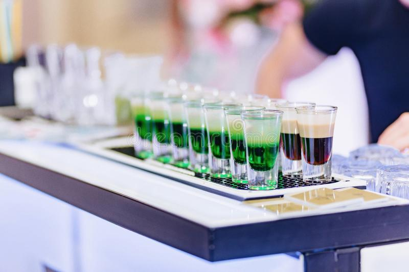Alcohol at celebrations in glasses and buffets. Alcohol at celebrations in glasses and festive buffets stock photo