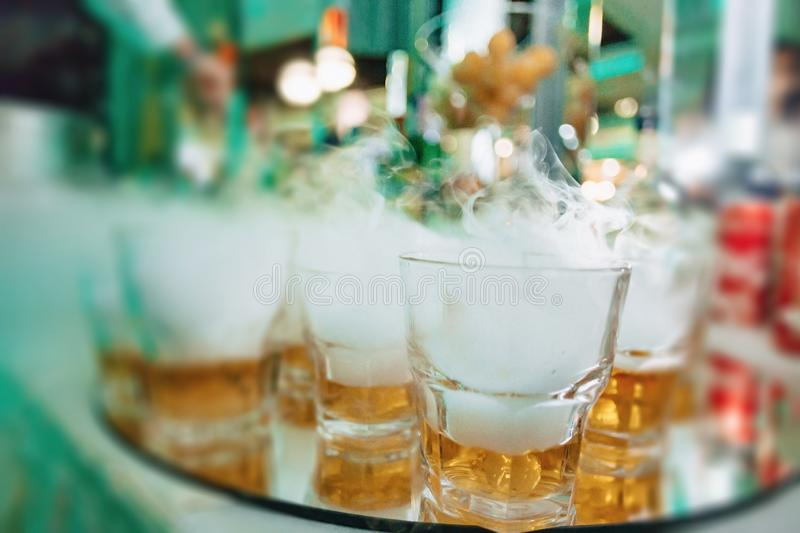 Alcohol at celebrations in glasses and buffets. Alcohol at celebrations in glasses and festive buffets stock photos