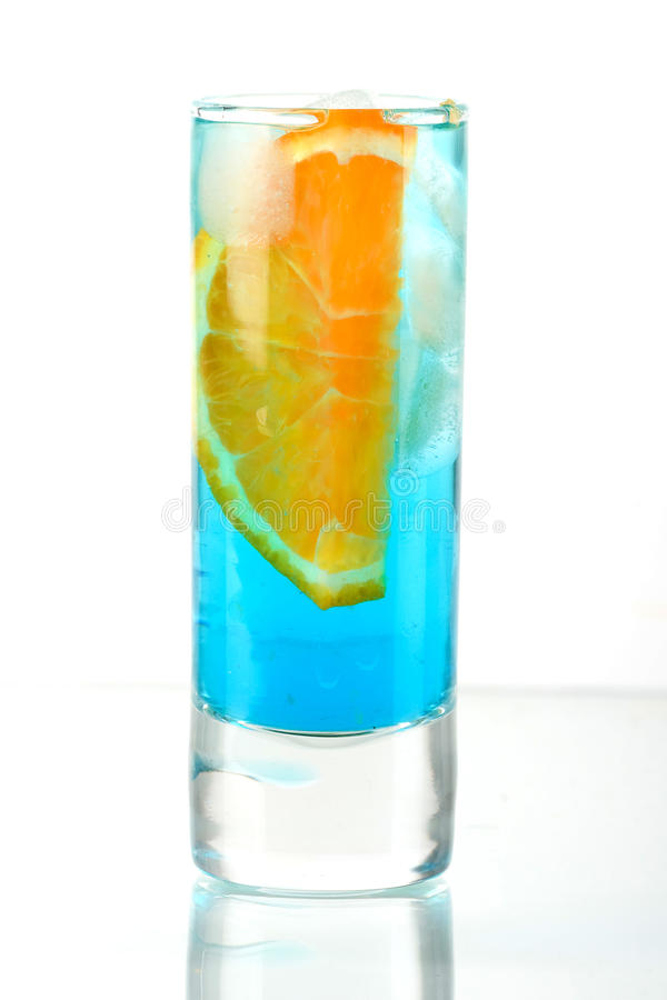 Download Alcohol Cocktail With Blue Curacao And Orange Stock Image - Image of maraschino, glass: 11754253