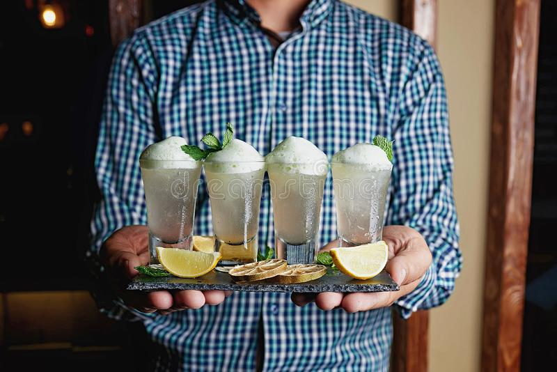 Alcohol Cocktail blur background stock images