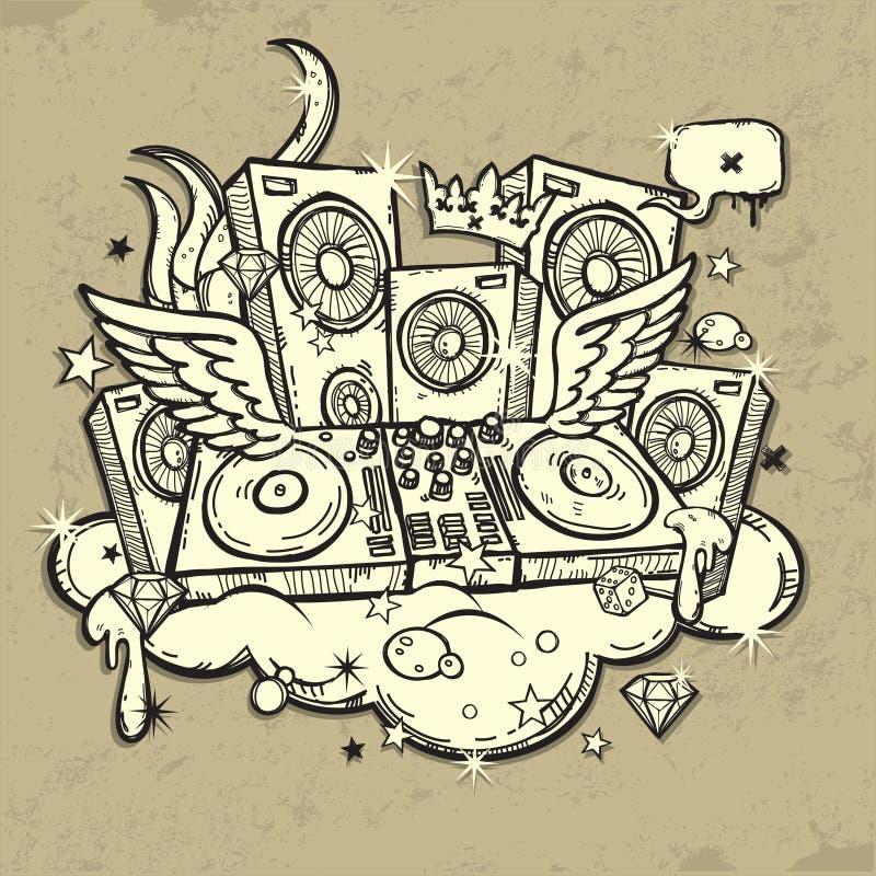 Alcohol de DJ libre illustration