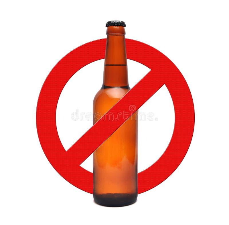 Alcohol de la parada de la muestra imágenes de archivo libres de regalías