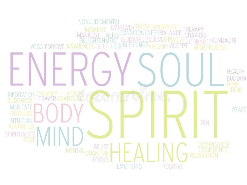 Alcohol del alma de la mente del cuerpo - nube de la palabra libre illustration