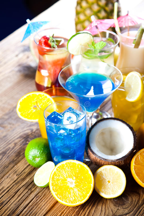 Alcohol drink, natural colorful tone stock image