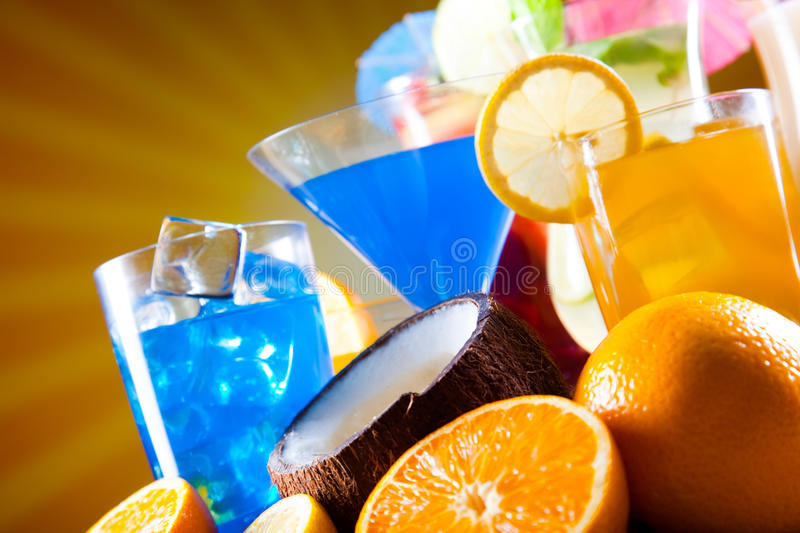 Alcohol drink, natural colorful tone royalty free stock photos