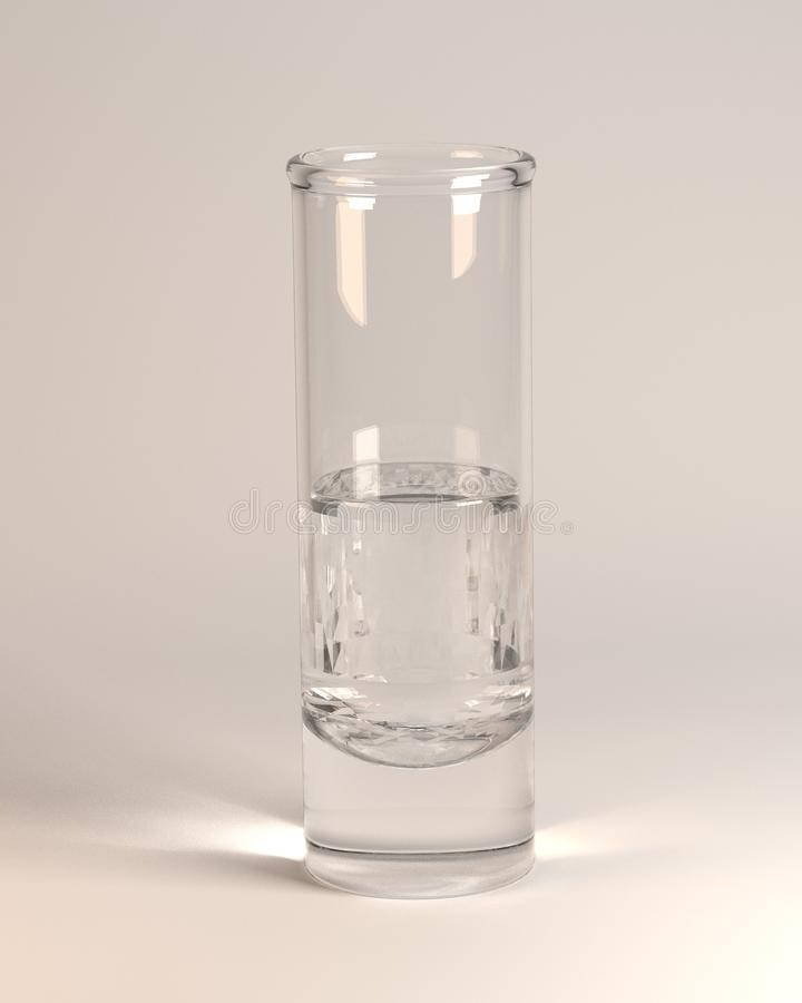 Download Alcohol drink - vodka stock illustration. Image of white - 24850598